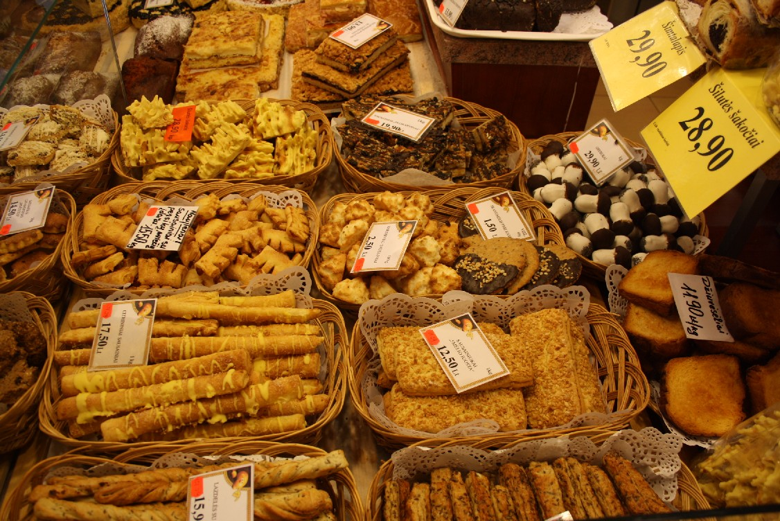 So many fine things at the bakery - especially the spongy, chocolate-coated mushrooms seemed typical and very good!