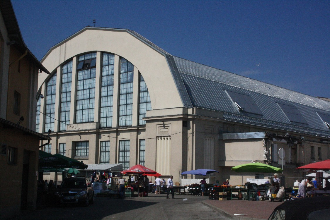 Errected for building zeppelins, the halls now host Riga's Central Market. You can buy ANYTHING in there.