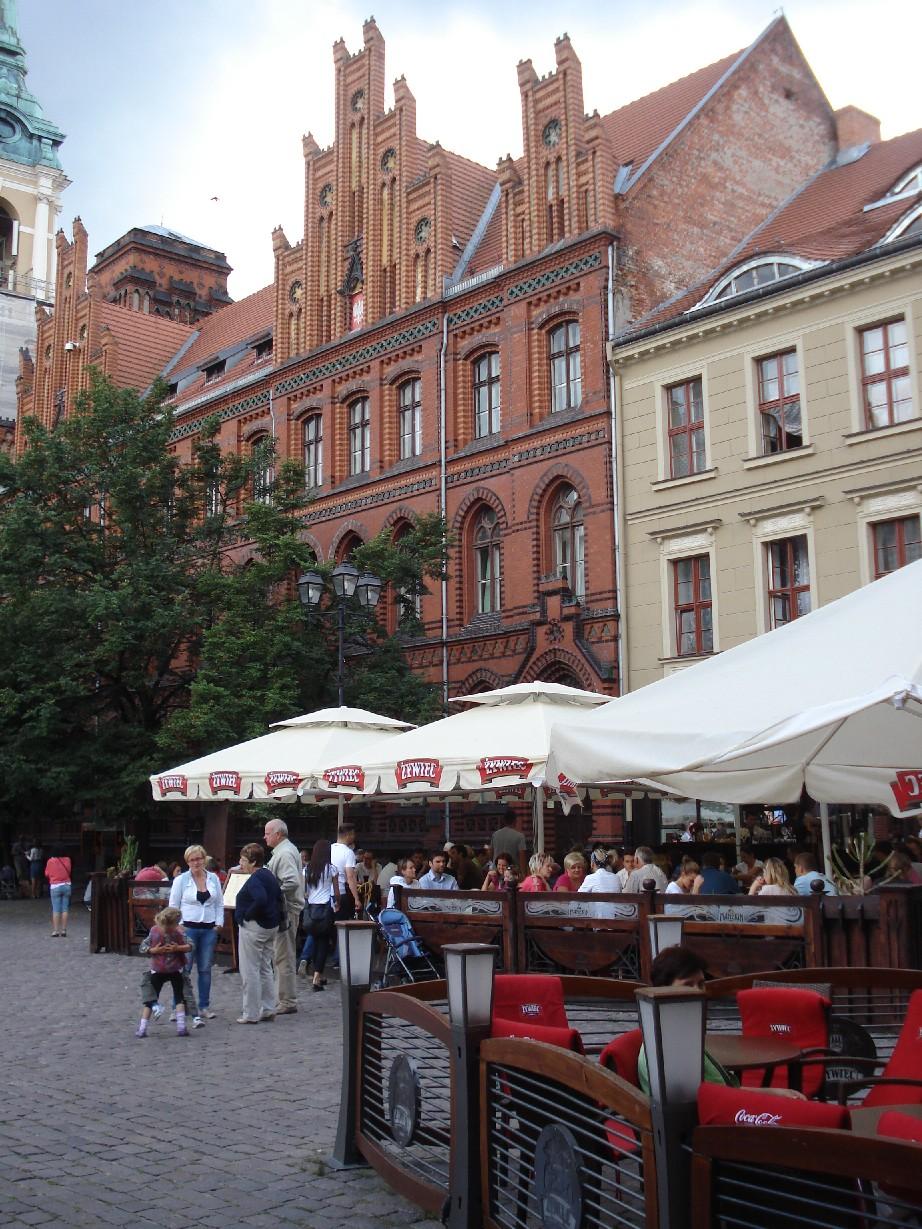 Torun market place.