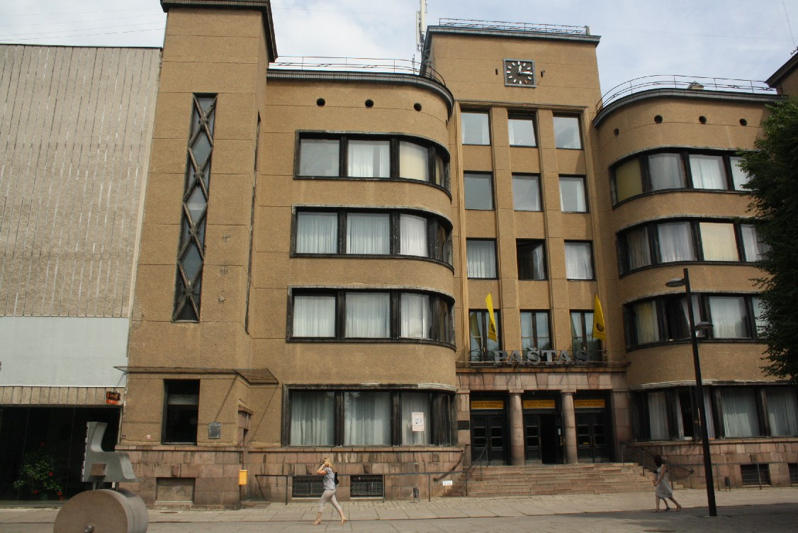 Some buildings of Kaunas can't deny their Soviet heritage.