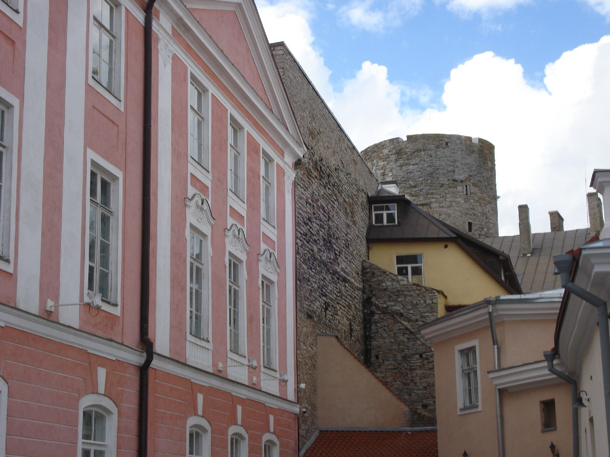 We loved the architectoral mix of Tallin's buildings.