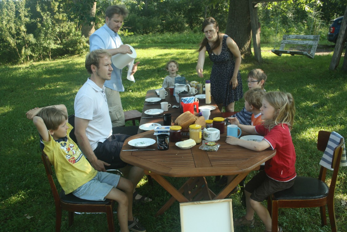 "A lively breakfast in the garden very much felt like ""the good old days""."