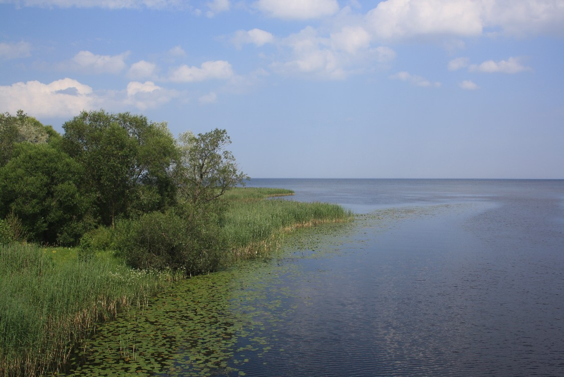 The Peipsi Lake. Or Lake Peipus, I think it depends on Estonian grammar. It's huge and marks the border to Russia.