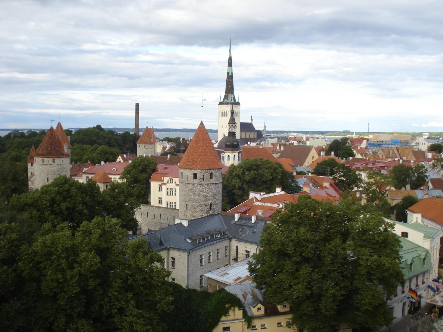 Blick auf Tallinn vom Burgberg aus.