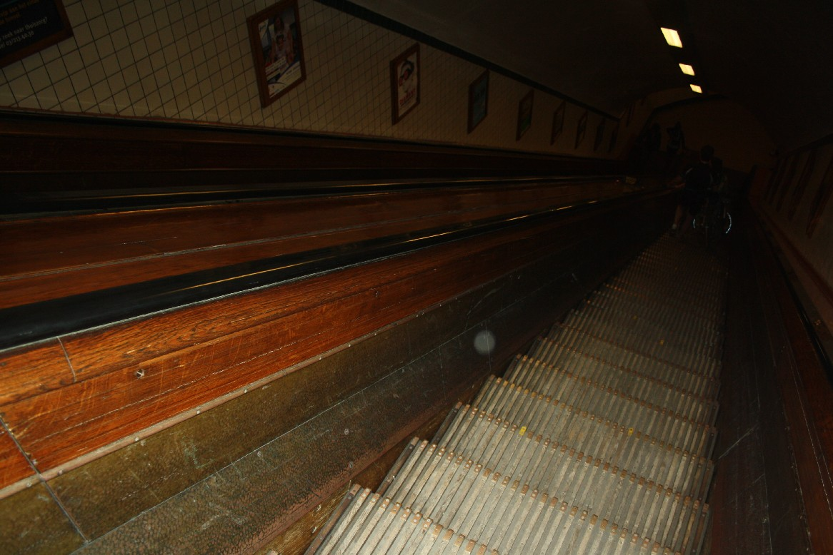 Wooden escalators? Yes, wooden escalators. From 1933.