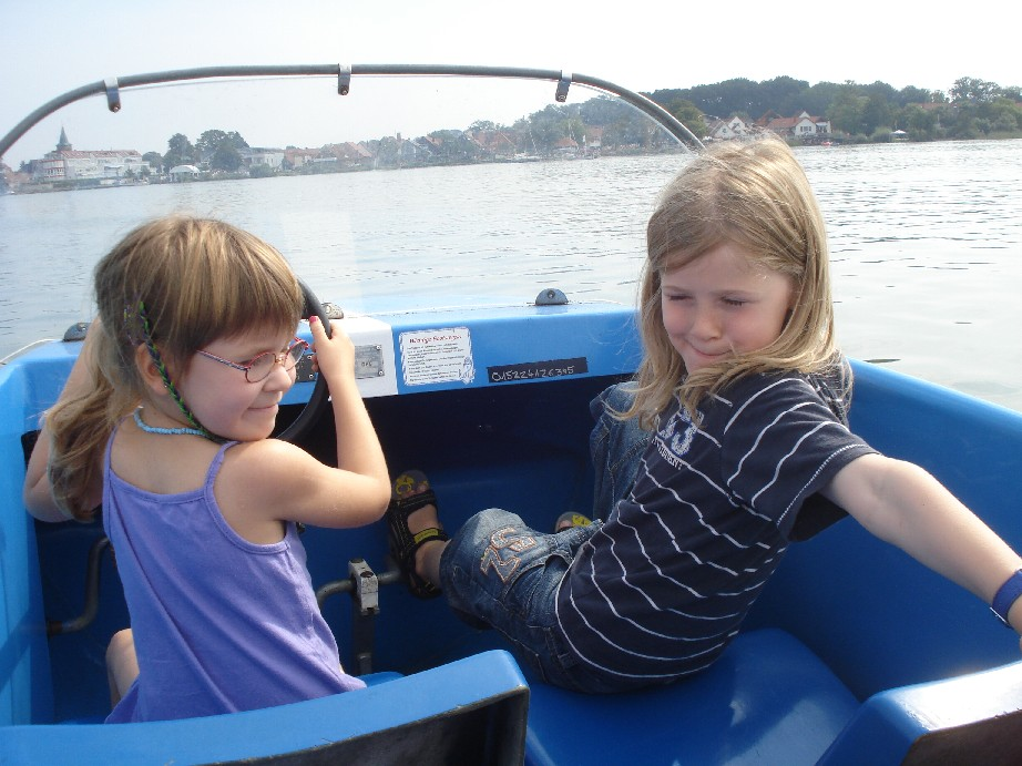 The boats are not that easy to handle when you are under 7.