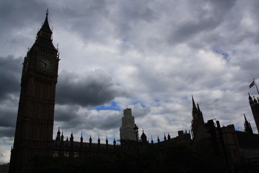 Typically London: Big Ben and grey skies.