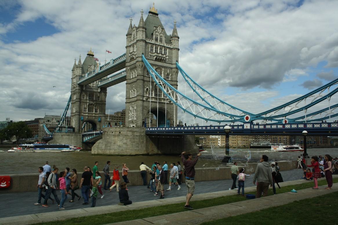 Londoner Touristengewühl, und family4travel mittendrin.