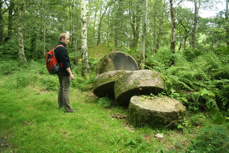 Old millstones - or what was supposed to become millstones.