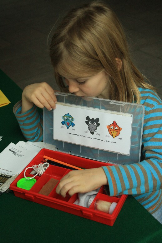 Families can use a box full of adventurous things to explore the museum of Minden.