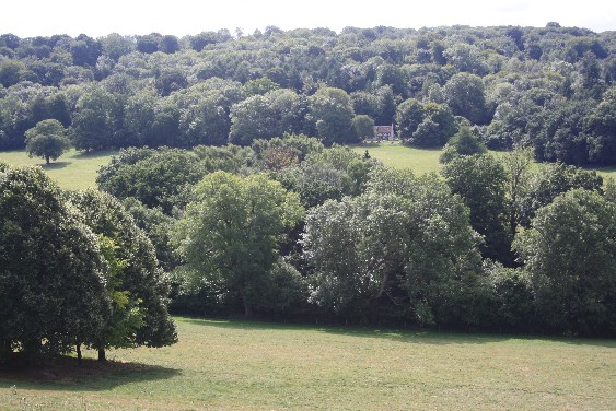 Our youth hostel is part of the lovely view from the manor.