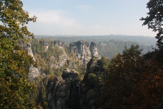 "Spectacular views in ""Saxon Switzerland"" near Dresden."
