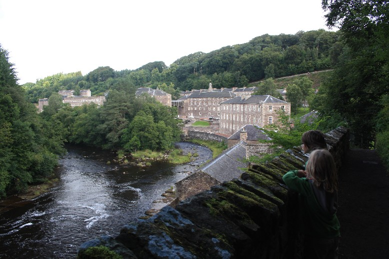More than 2,000 people lived in New Lanark at the peak of cotton production.