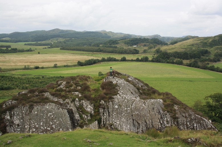 Dunadd Fort is a rocky hill in the glen of Kilmartin. In early history future kinds came here to claim their regality.