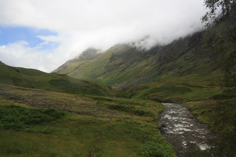 Glen Coe in the Scottish Highlands.