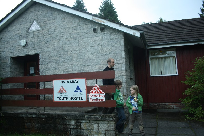 Very basic but at least a shelter from the cold: Inverary Youth Hostel.