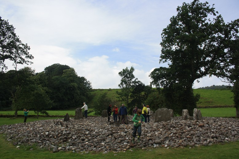 I didn't dare to take a close-up photo, but those are the folks that were checking out the energy flow of the stone circle.