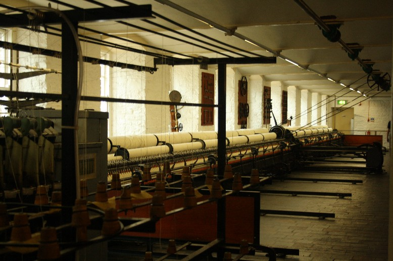The spinning machine in the cotton mill. Industrialisation at its best.