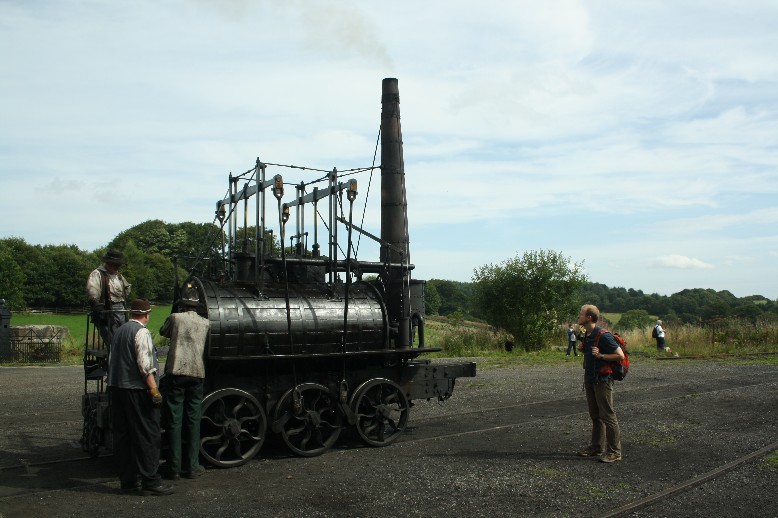 """A replica of the Steam Elephant of 1815. We even enjoyed a ride in a wagon pulled by it - though """"enjoy"""" might not be the right word here..."""