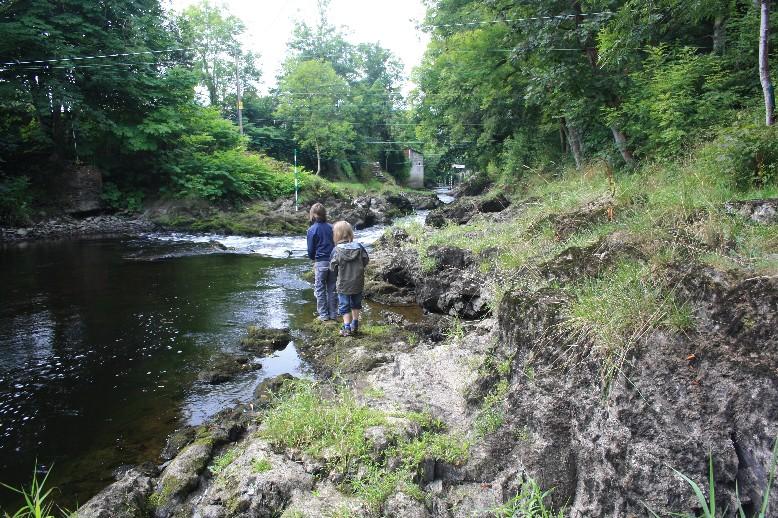 Down by the river in Llandysul.