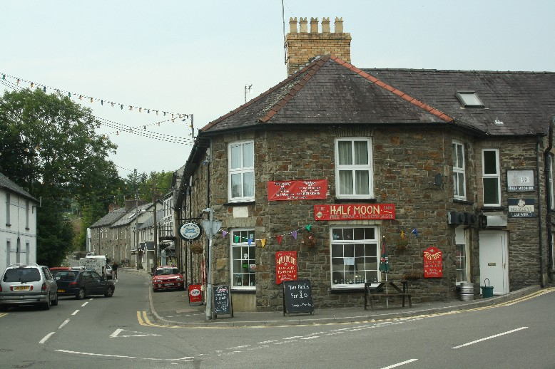The Half Moon Inn in Llandysul is a true family business and a lovely place to have lunch and chat with the owners.