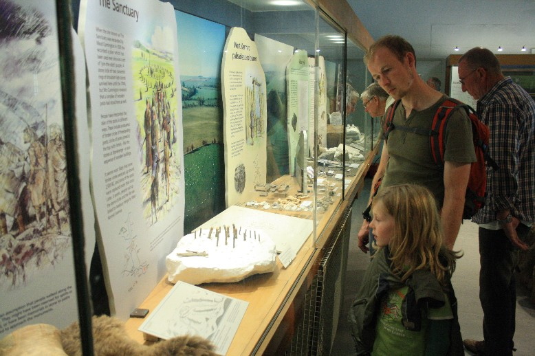 The Alexander Keiller museum shows the actuals finds from the henge. My boys were especially fascinated to see the things from the pockets of the unlucky barber.