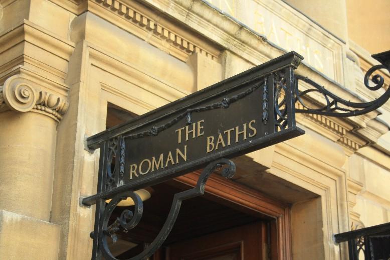 Die römischen Thermen sind die Hauptattraktion von Bath - aber auch ganz schön teuer... (The Roman baths are the main attraction of the city and pretty expensive.)