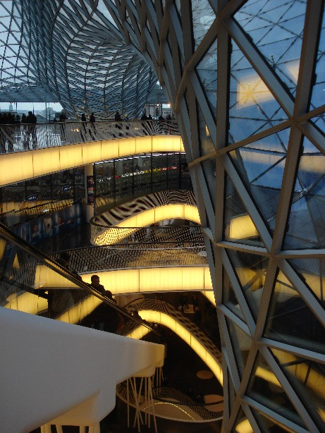 "The escalator of the ""MyZeil"" shopping-mall is supposed to be the longest one in Europe. Whether that's (still) true or not, the building is definitely worth a visit."