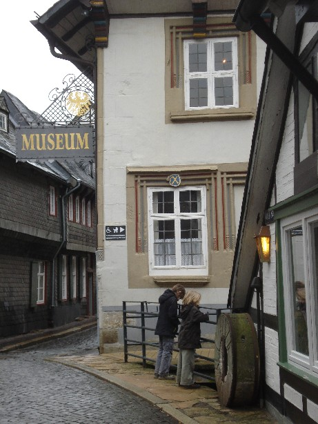 There are plenty of magnificent historical buildings in Goslar. And museums.. (And not knowing I'd want to write about this in a blog a year later, I didn't take too many photos on a grey day like that).