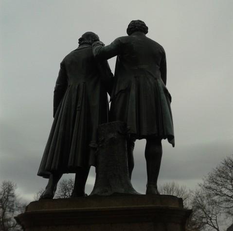 Auf den Spuren von Goethe und Schiller... (Tracking the two greatest German poets in Weimar.)