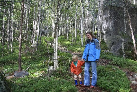 Byklestig Setesdal Norwegen, Wandern mit Kleinkind