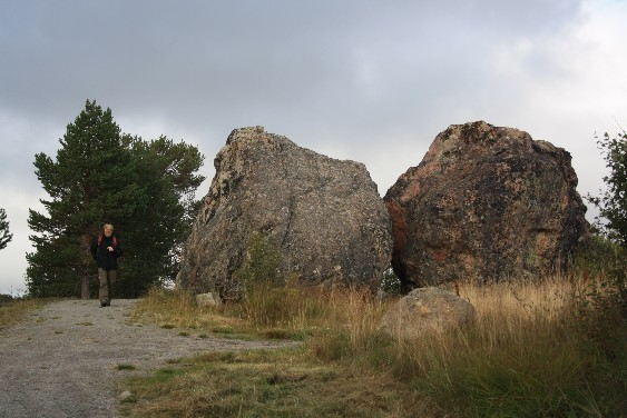 Große Brocken in der Nähe von Hovden.