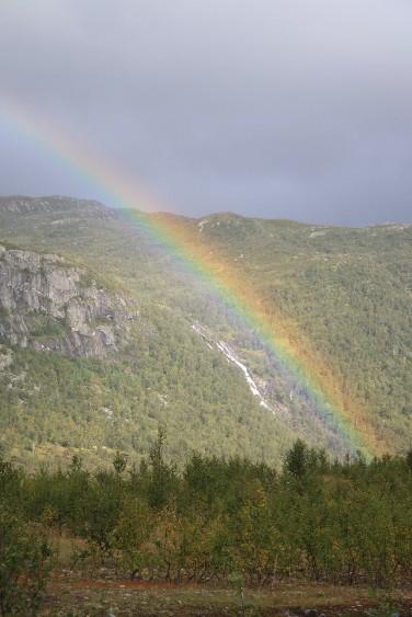 So weit oben waren wir, dass wir Bifrost entdeckten (die Brücke nach Asgard zu den nordischen Göttern).