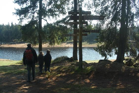 Wandern? Oder eher Spazieren gehen? Egal, wie man es definiert, einmal rund um den Oderteich laufen macht allen Spaß!
