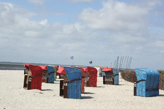 Perfekte Infrastruktur am Strand von Nieblum.