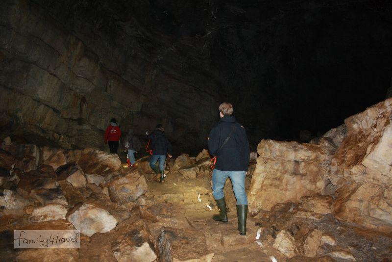Slowenien mit Kindern - Erkunden der Križna-Höhle