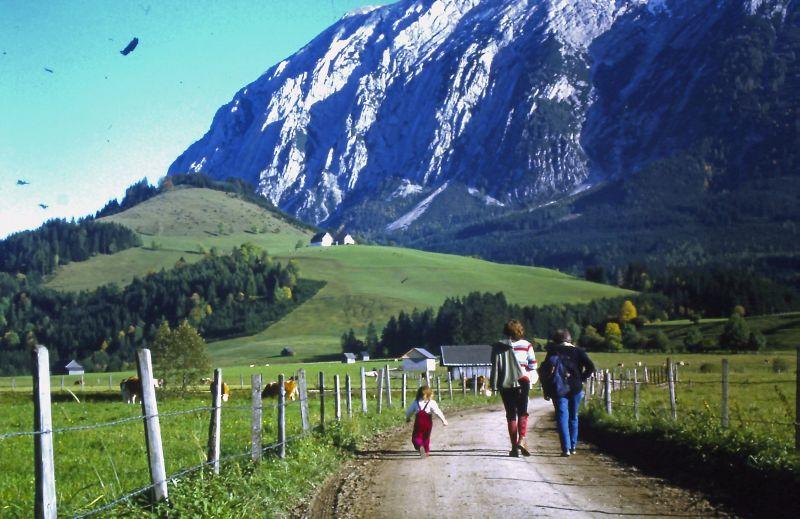 Der Grimming war Klein-Lenas allererstes Wander-Revier.