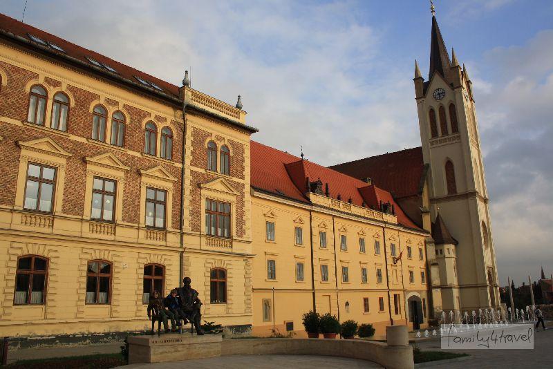 Die Fußgängerzone von Keszthely ist sauber, hübsch und einladend.