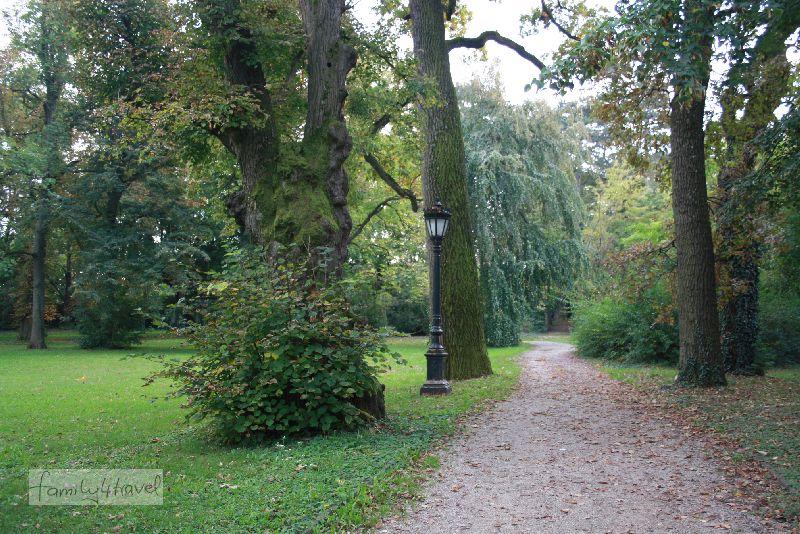 Freie Bahn im Schlosspark von Kesztely ist nett und sieht viel schöner aus als Fotos von verrammelten Restaurants...