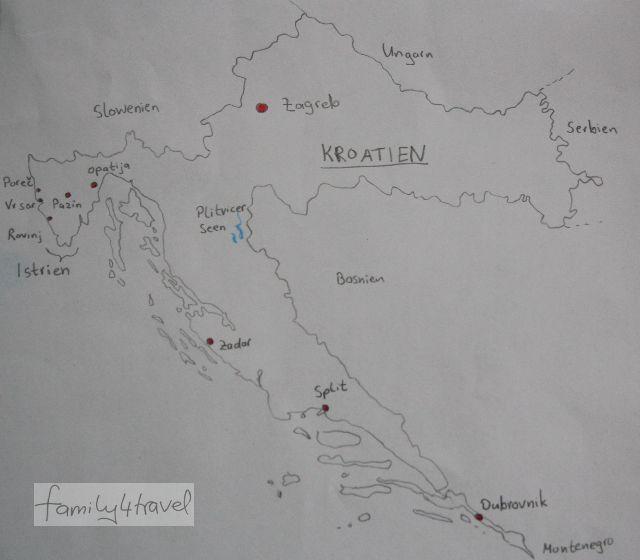 Kroatien mit Kindern Karte unsere Erfahrungen