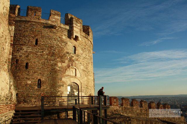 Ganz oben in Thessaloniki gibt es noch beeindruckende Reste der Stadtbefestigung.