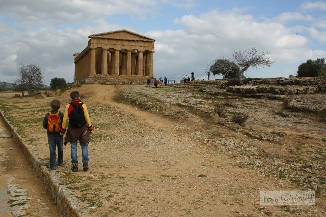 In Agrigento auf Sizilien ist einer der besterhaltenen griechischen Tempel zu finden.