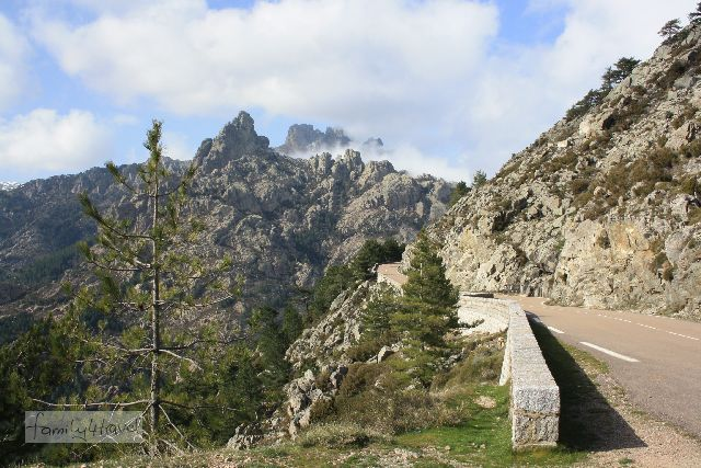 Korsika meint das ernst mit den Gebirgsstraßen. Diese hier ist noch vergleichsweise gut ausgebaut (an den anderen hätten wir nicht anhalten können, um ein Foto zu machen).