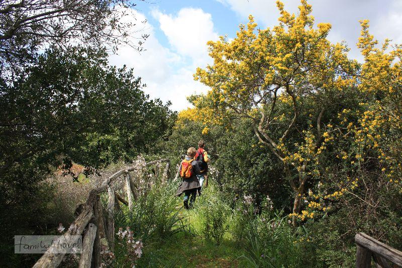 Wandern ist auch für Kinder auf beiden Inseln ein Erlebnis (hier auf Sardinien).