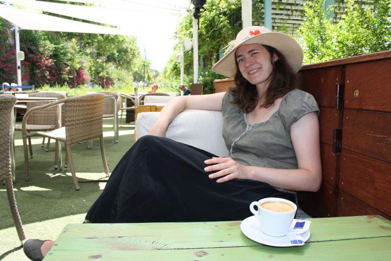Nach der Stadtbesichtigung bei 34 Grad hab ich mir meinen Cappuccino-Chillmoment verdient.