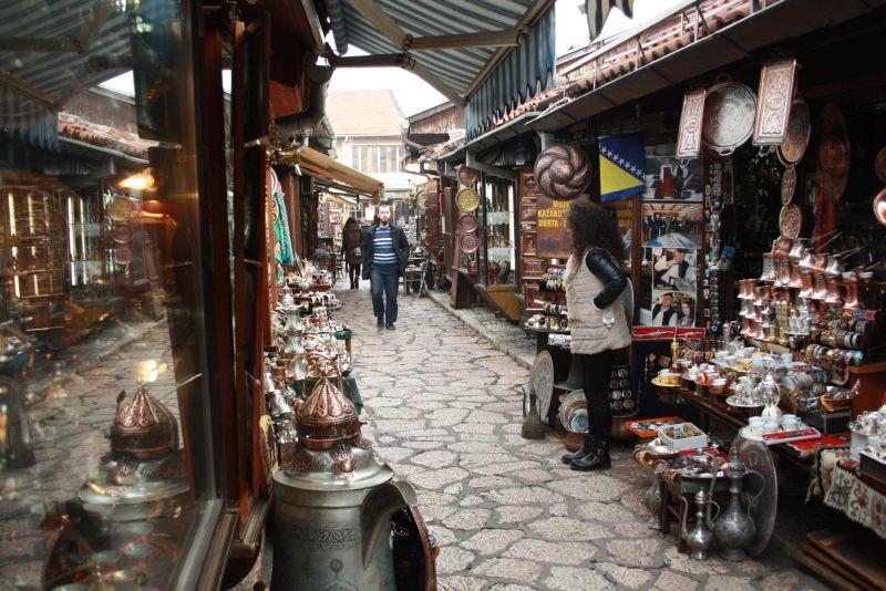 Gasse der Kupferschmiede, Sarajevo