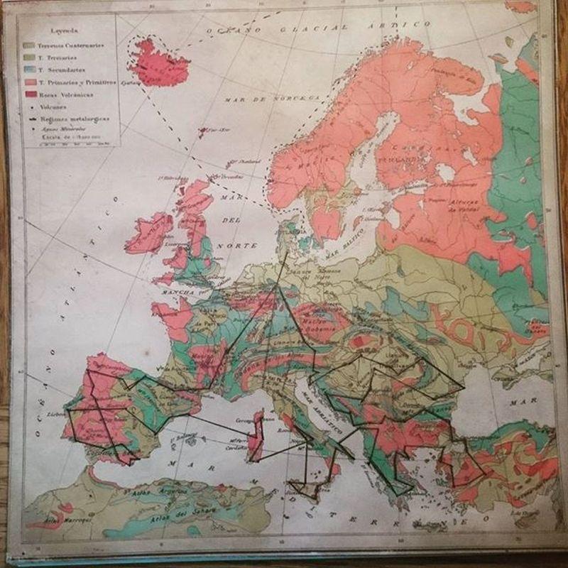 Rundreise durch Europa, Karte mit Route