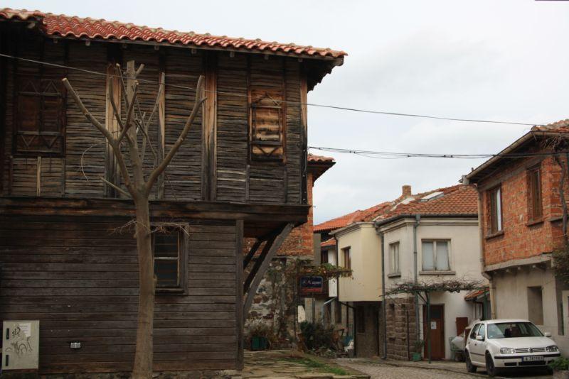 Typische Architektur in Sozopol am Schwarzen Meer.
