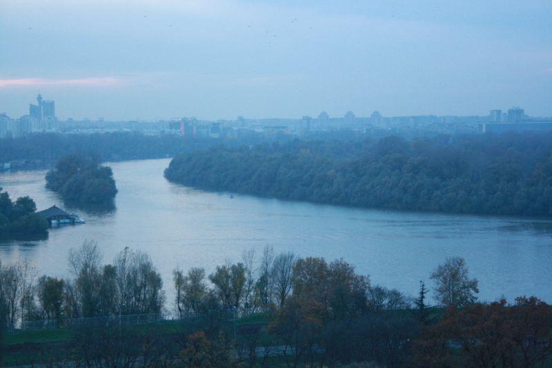 Ein Blick auf die diesige Donau von der Belgrader Festung aus.