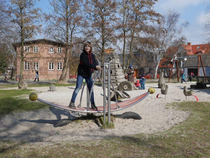 Spielplatz Vitte, Hiddensee mit Kindern.